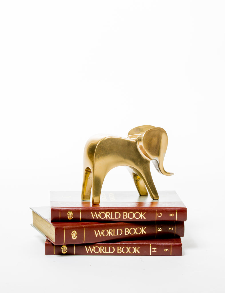 Geometric Elephant Sculpture gold