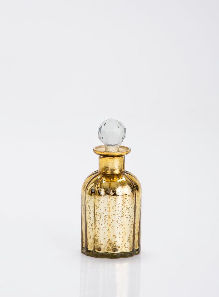 Harvey Gold glass decorative bottle Small