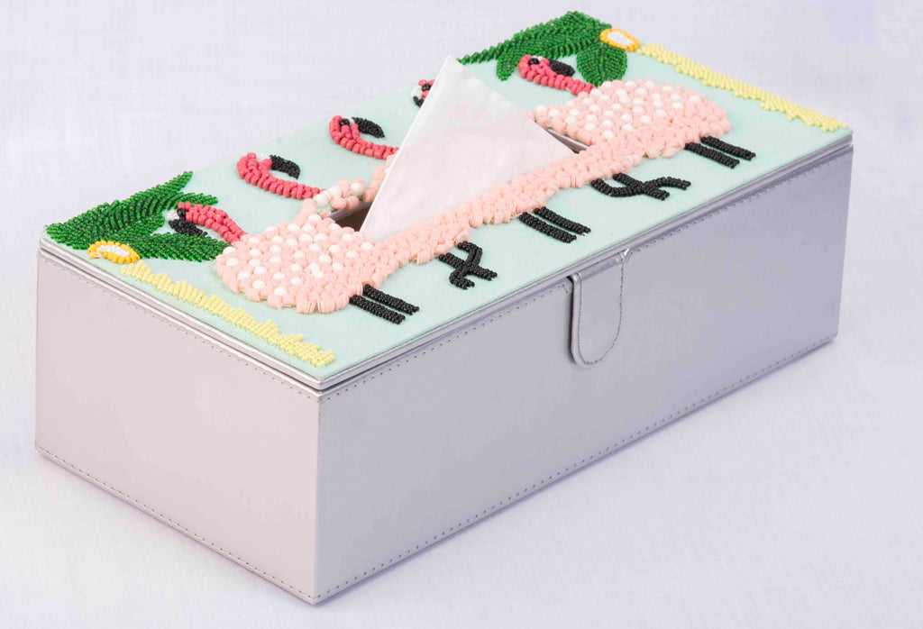 Flamingo Tissue Box