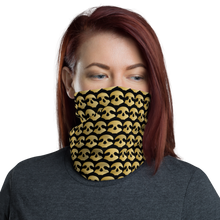Load image into Gallery viewer, Pirate Skull Gold Neck Gaiter
