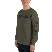 Load image into Gallery viewer, Pirate Ship Black with Sleeve Print Long Sleeve T-Shirt