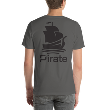 Load image into Gallery viewer, Pirate Ship Logo Black Short-Sleeve Unisex T-Shirt