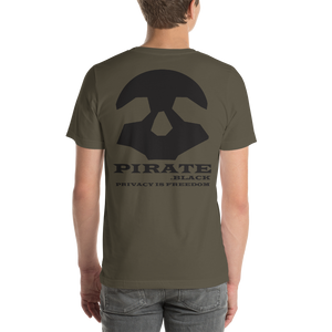 Pirate Black Privacy is Freedom Short-Sleeve Unisex T-Shirt