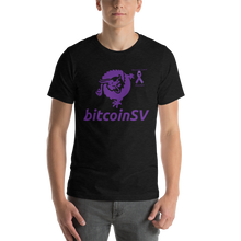 Load image into Gallery viewer, BitcoinSV Pancreatic Cancer Awareness Short-Sleeve Unisex T-Shirt