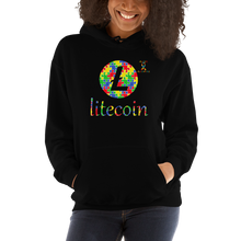 Load image into Gallery viewer, Litecoin Autism Awareness Unisex Hoodie