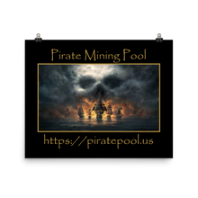 Load image into Gallery viewer, Pirate Mining Pool Skull and Ships Photo paper poster
