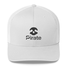 Load image into Gallery viewer, Pirate Skull Black Trucker Cap
