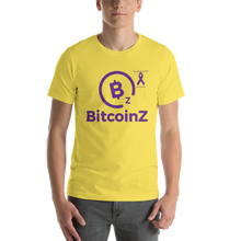 Load image into Gallery viewer, BitcoinZ Pancreatic Cancer Awareness Short-Sleeve Unisex T-Shirt