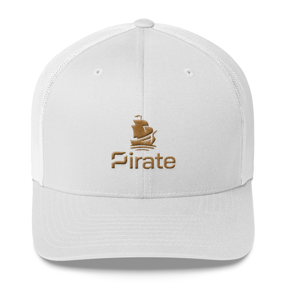 Pirate Ship Gold Trucker Cap