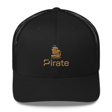 Load image into Gallery viewer, Pirate Ship Gold Trucker Cap