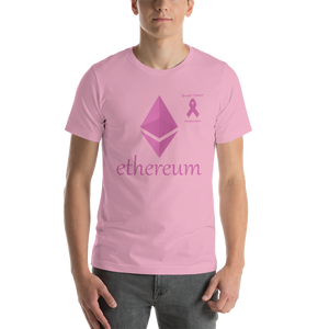 Ethereum Breast Cancer Awareness Short-Sleeve Unisex T-Shirt