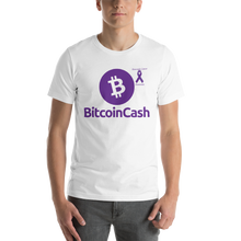 Load image into Gallery viewer, Bitcoin Cash Pancreatic Cancer Awareness Short-Sleeve Unisex T-Shirt