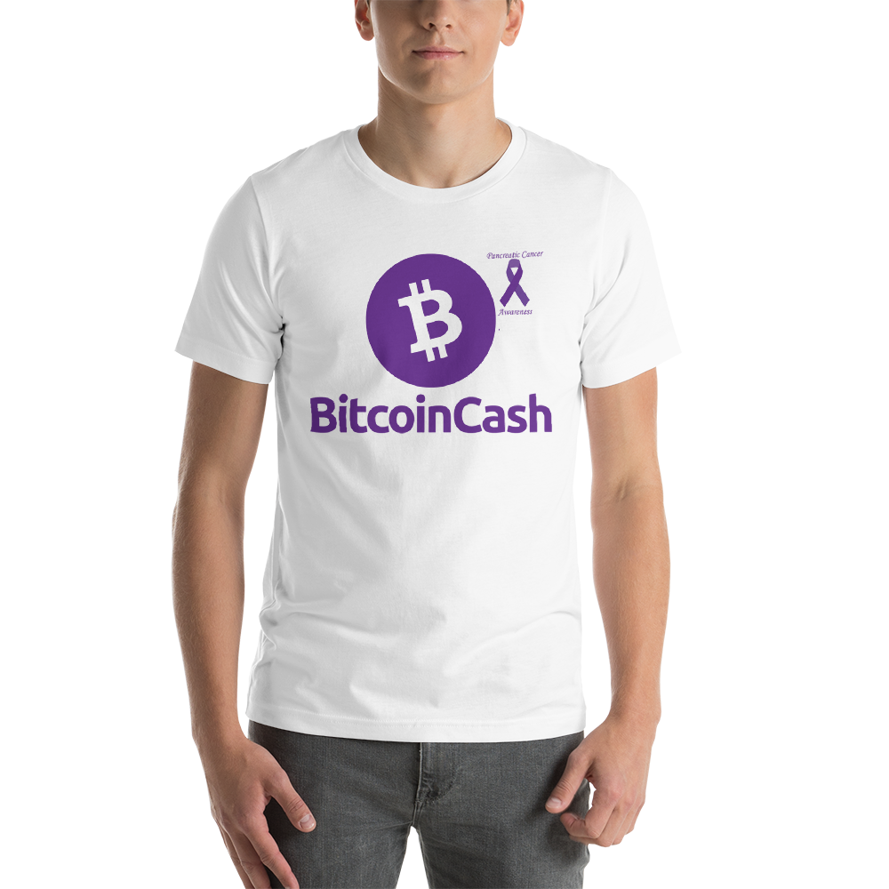 Bitcoin Cash Pancreatic Cancer Awareness Short-Sleeve Unisex T-Shirt
