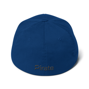 Pirate Skull Black Structured Twill Cap