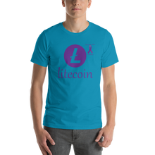 Load image into Gallery viewer, Litecoin Pancreatic Cancer Awareness Short-Sleeve Unisex T-Shirt
