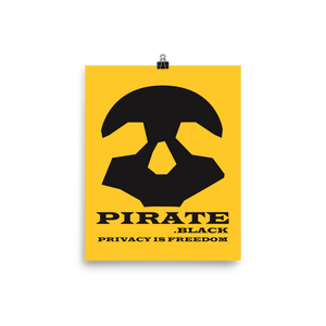 Pirate Black Privacy is Freedom Photo paper poster