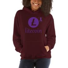 Load image into Gallery viewer, Litecoin Pancreatic Cancer Awareness Unisex Hoodie