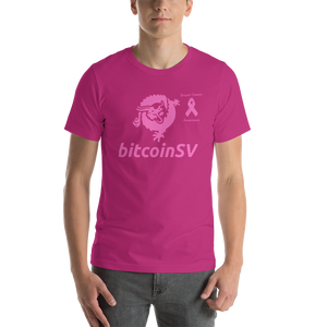 BitcoinSV Breast Cancer Awareness Short-Sleeve Unisex T-Shirt