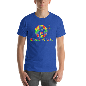 Bitcoin Private Autism Awareness Short-Sleeve Unisex T-Shirt