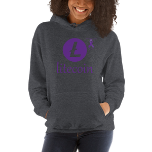 Litecoin Pancreatic Cancer Awareness Unisex Hoodie