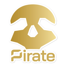 Load image into Gallery viewer, Pirate Skull Gold Stickers