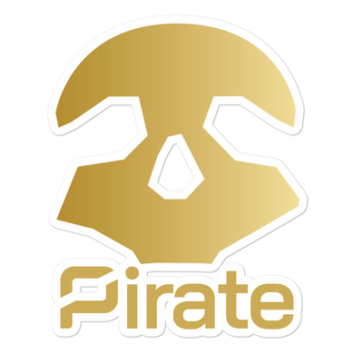 Pirate Skull Gold Stickers