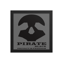 Load image into Gallery viewer, Pirate Black Privacy is Freedom Framed poster
