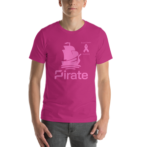 Pirate Breast Cancer Awareness Short-Sleeve Unisex T-Shirt