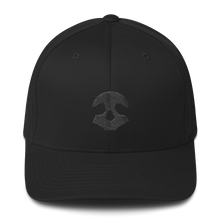 Load image into Gallery viewer, Pirate Skull Black Structured Twill Cap