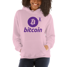 Load image into Gallery viewer, Bitcoin Pancreatic Cancer Awareness Unisex Hoodie