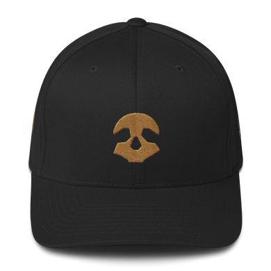Pirate Skull Gold Structured Twill Cap