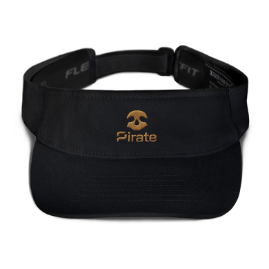 Pirate Skull Gold Visor