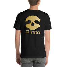 Load image into Gallery viewer, Pirate Skull Gold Short-Sleeve Unisex T-Shirt