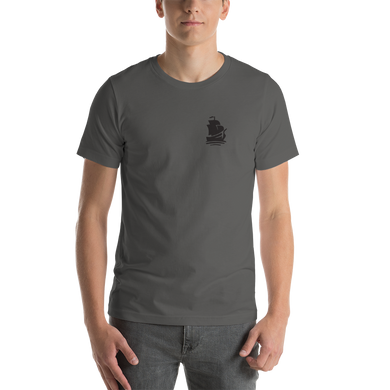Pirate Ship Black Short-Sleeve Unisex T-Shirt