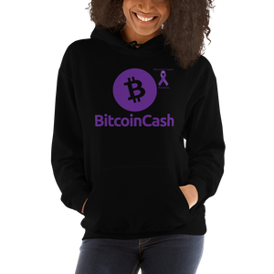 Bitcoin Cash Pancreatic Cancer Awareness Unisex Hoodie
