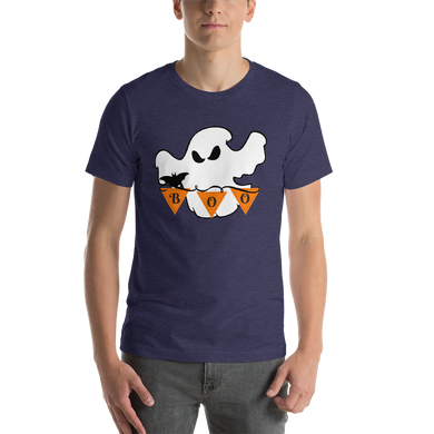 Halloween Boo Ghost Short-Sleeve Unisex T-Shirt