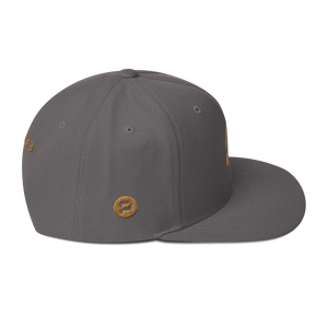 Pirate Skull Gold Snapback Hat