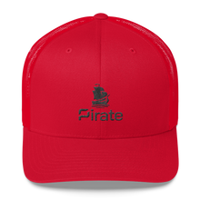 Load image into Gallery viewer, Pirate Ship Black Trucker Cap