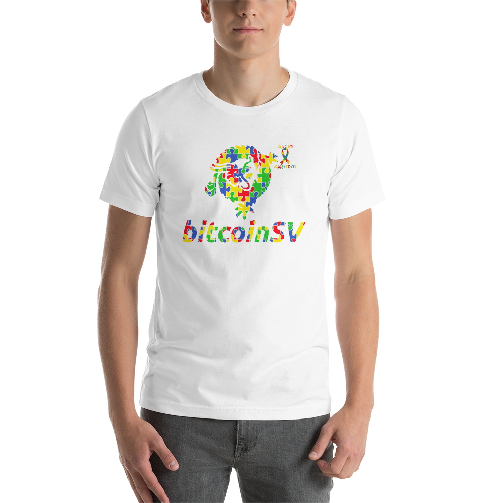 BitcoinSV Autism Awareness Short-Sleeve Unisex T-Shirt