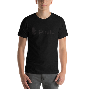 Pirate Ship Logo Black Short-Sleeve Unisex T-Shirt