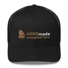 Load image into Gallery viewer, ARRRmada logo Trucker Cap