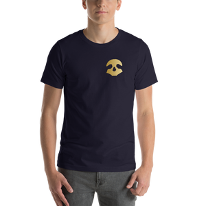 Pirate Skull Gold Short-Sleeve Unisex T-Shirt