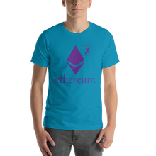 Load image into Gallery viewer, Ethereum Pancreatic Cancer Awareness Short-Sleeve Unisex T-Shirt