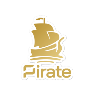 Pirate Ship Gold Stickers