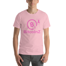 Load image into Gallery viewer, BitcoinZ Breast Cancer Awareness Short-Sleeve Unisex T-Shirt