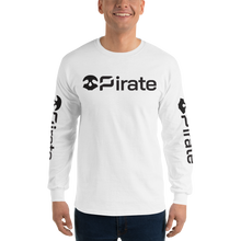 Load image into Gallery viewer, Pirate Skull Black with Sleeve Print Long Sleeve T-Shirt