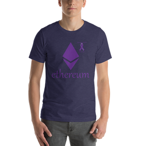 Ethereum Pancreatic Cancer Awareness Short-Sleeve Unisex T-Shirt