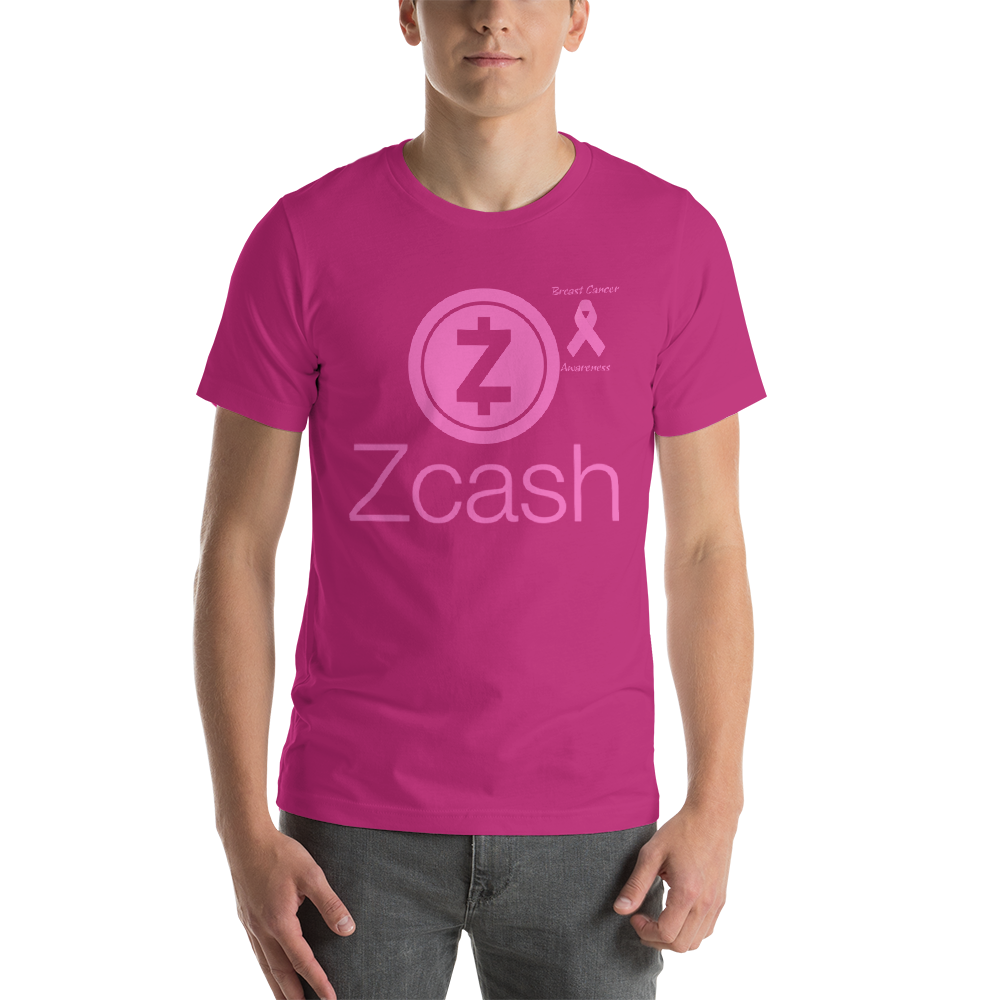 Zcash Breast Cancer Awareness Short-Sleeve Unisex T-Shirt