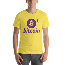 Load image into Gallery viewer, Bitcoin Pancreatic Cancer Awareness Short-Sleeve Unisex T-Shirt