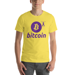 Bitcoin Pancreatic Cancer Awareness Short-Sleeve Unisex T-Shirt